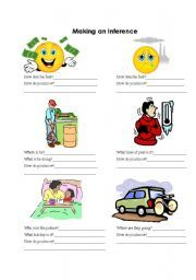 English worksheet: Making an Inference - Introduction