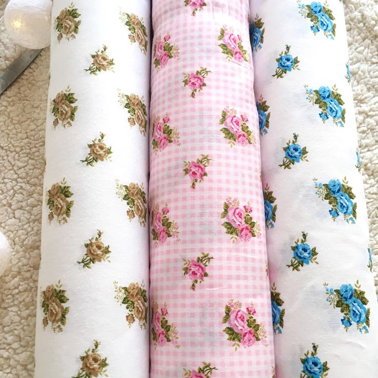 New fabrics in the shop! Cute roses in a diffrent colours.