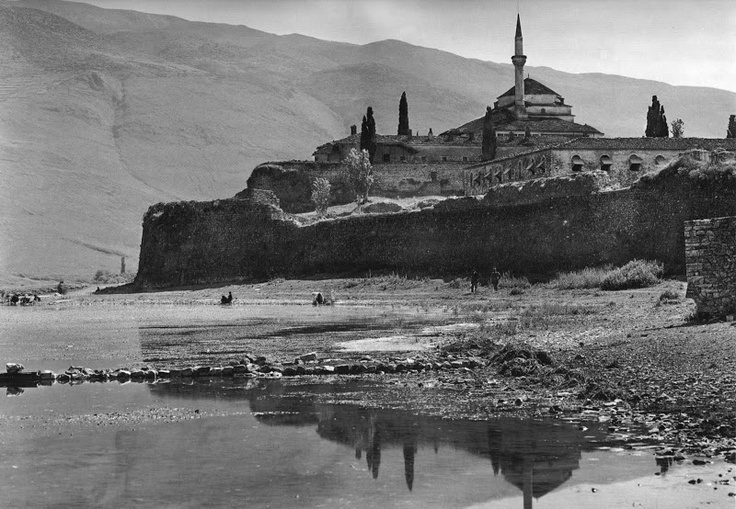 Ioannina, the lake with the castle, 1913 by Frederic Boissonnas
