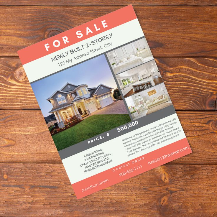 Real Estate Flyer PDF Fillable- Mint and Dark Pink