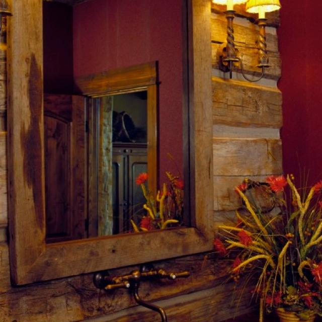 Rustic bathroom Home decor Pinterest Rustic