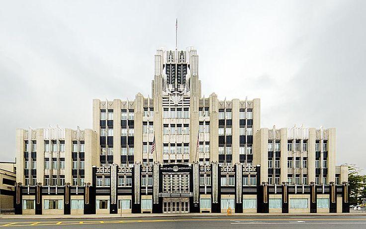 The Niagara Mohawk building, amazing art deco architecture.