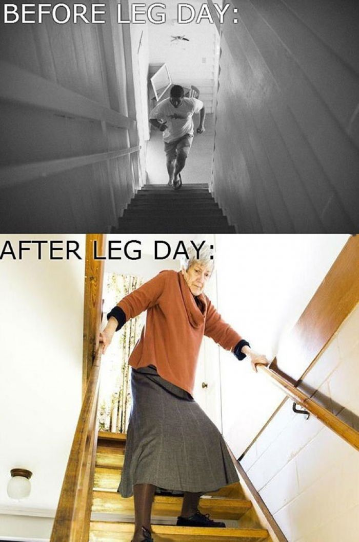Before leg day Vs. After leg day