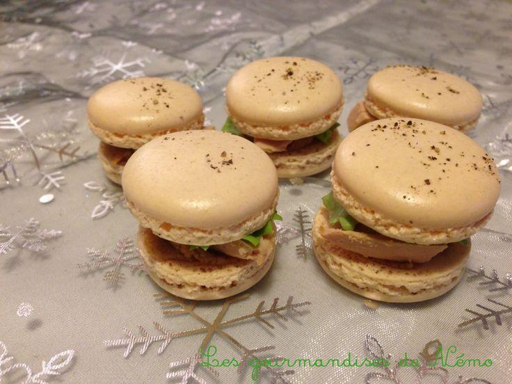 Macarons salés foie gras et pain d'épices