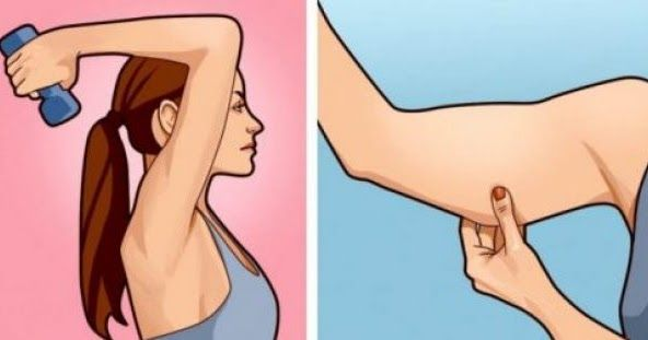 5 Απλές αλλά Θαυματουργές ασκήσεις για να Εξαφανίσετε το ενοχλητικό Λίπος κάτω από τα Μπράτσα.