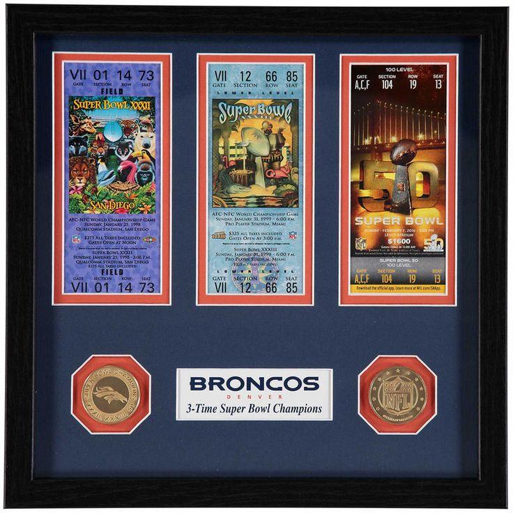 Denver Broncos Highland Mint Super Bowl 50 Champions Ticket Collection