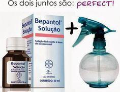 Cauterizacao Caseira com Bepantol - * 10 ml de queratina * 20 ml de água * 10 ml de bepantol * Um pouco de protetor térmico