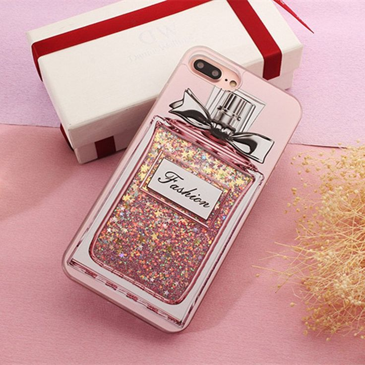 For iPhone 7 Plus For iphone 6S 6 7 Plus Luxury Case Perfume Bottle Dynamic Moving Glitter Liquid Quicksand Phone Cases Capa