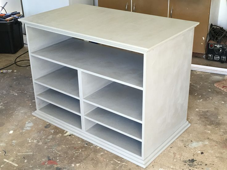 Home theatre unit with room to hide the cables in the rear.