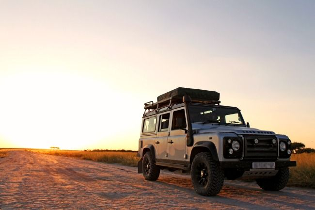 Claude Geral's 2011 Land Rover in the Kalahari