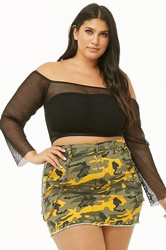 29e37a1f9 Plus Size Camo Mini Skirt in 2019 | Products | Mini skirts, Camo ...