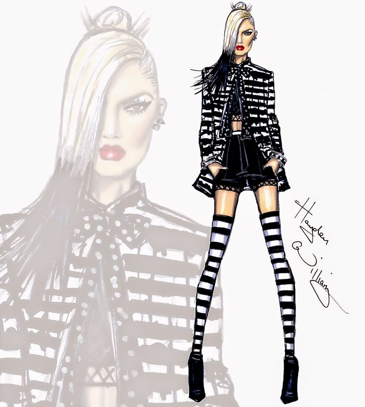 Hayden Williams Fashion Illustrations: Gwen Stefani 'Spark the Fire' by Hayden Williams