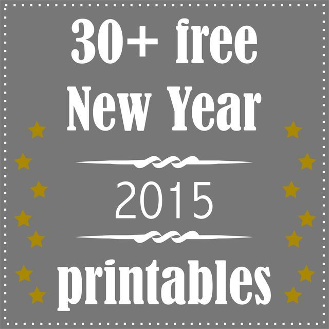 30 + free printable New Year's Eve decoration and gifts - Silvester Druckvorlagen - round-up | free paper downloads – MeinLilaPark | Bloglovin'