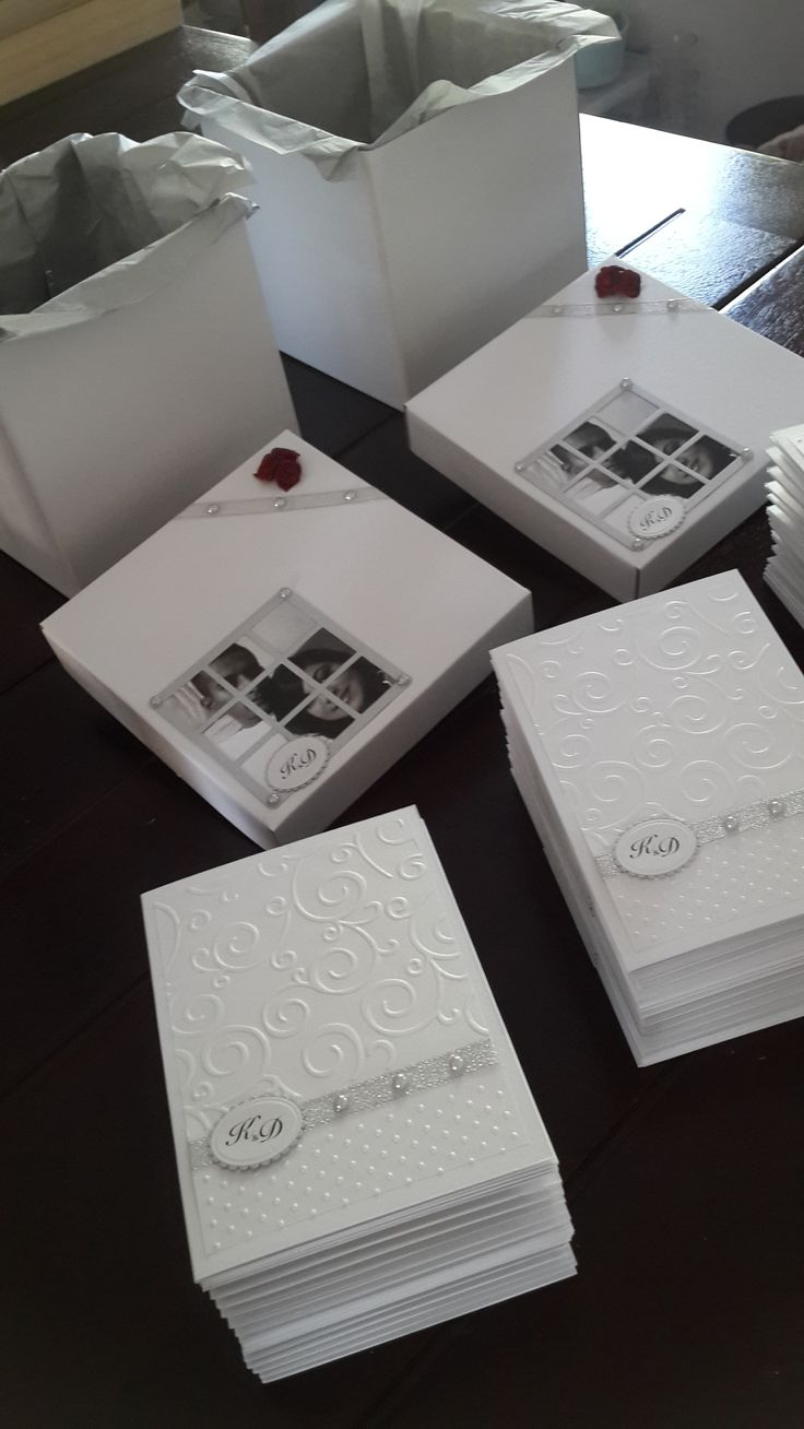 handmade Wedding Invites and Boxes for Di. handmade by Sandi G muzzys.creations@gmail.com