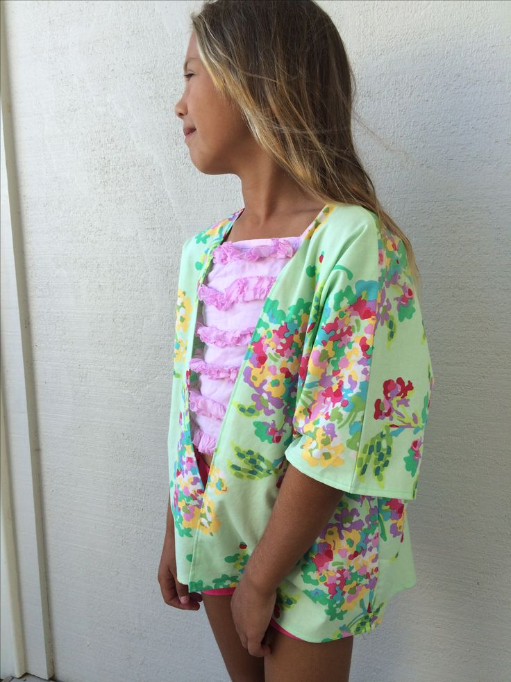 The Giselle kimono with a high-low hem. So adorable.