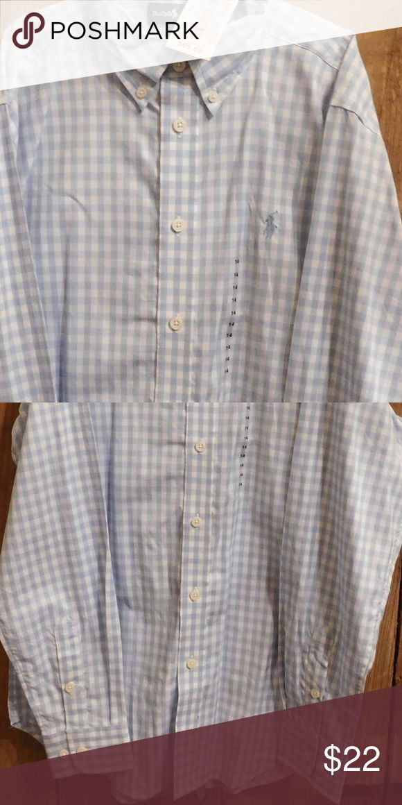 Brand new with tags - Polo Ralph Lauren shirt Brand new with tags- boys Polo Ralph Lauren long sleeve baby blue and white gingham check shirt Ralph Lauren Shirts & Tops Button Down Shirts