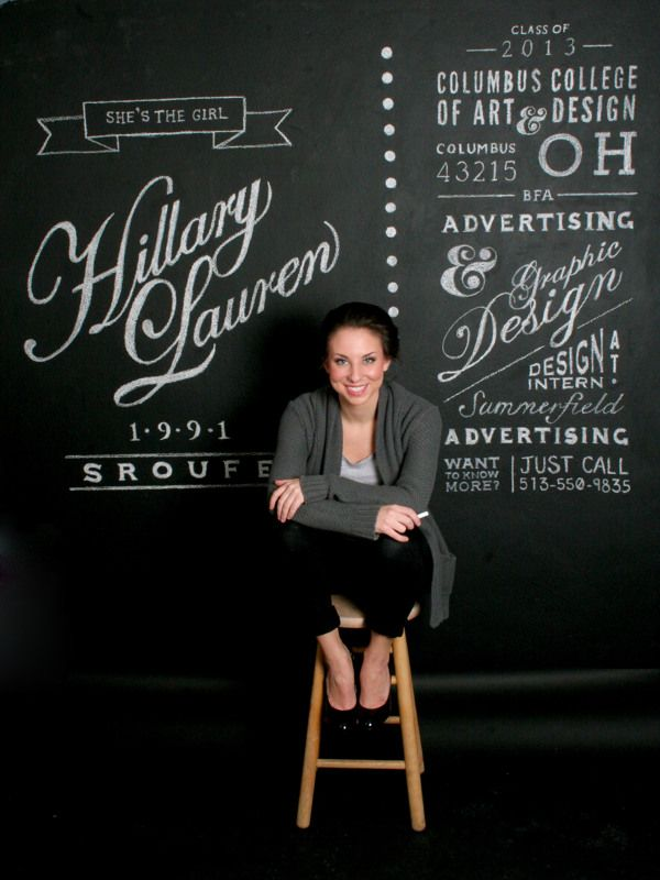 Resume Chalk Wall by Hillary Sroufe