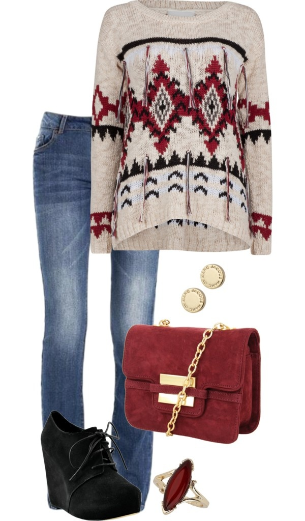 This would be a great look to wear with my extended family on xmas, however I think I would go for darker jeans! #lulus #holidaywear