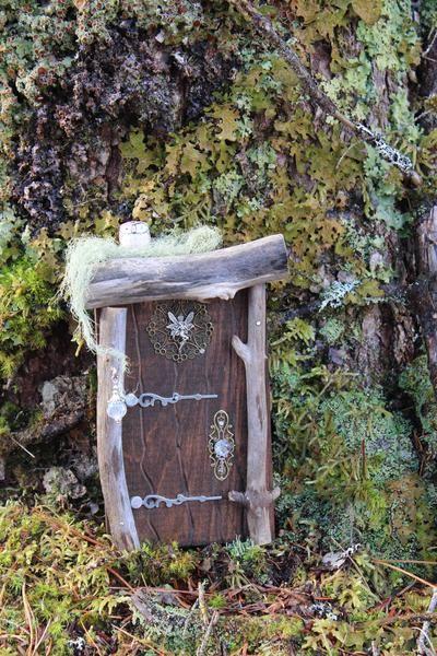 brown wood fairy door, product front, nova scotia, canada, fernwood fairy doors