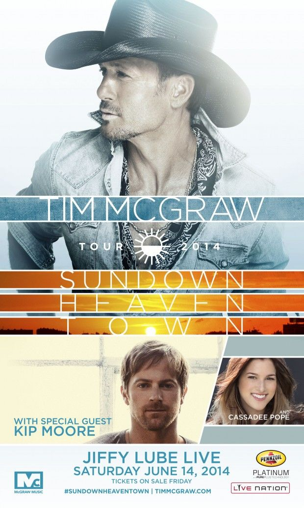 Tim McGraw at Jiffy Lube Live – Tickets and All 2014 Tour Dates Here: http://www.entertainmentordie.com/2014/03/tim-mcgraw-at-jiffy-lube-live-ticket-and-tour-info-here/