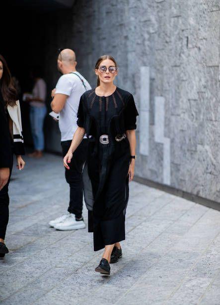 85c6ccc458 Olivia Palermo wearing black dress Jimmy Choo sunglasses seen outside  Alberta Ferretti during Milan Fashion Week Spring/Summer 2019 on September  19.