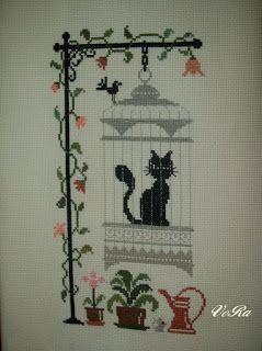 VERA:gondolataim  /kézimunkáról és egyebekről/: Kalitkás cica....