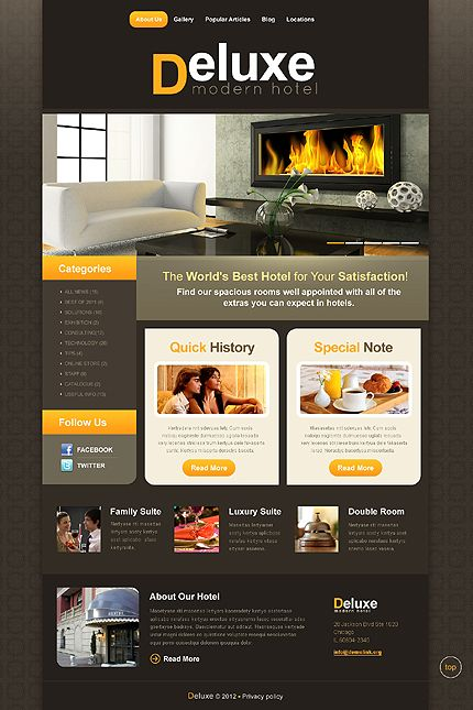 Deluxe Hotel WordPress Themes by Delta