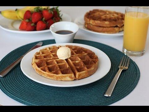 MY FAVORITE CRISPY WAFFLES RECIPE - Breakfast and Brunch Food - YouTube