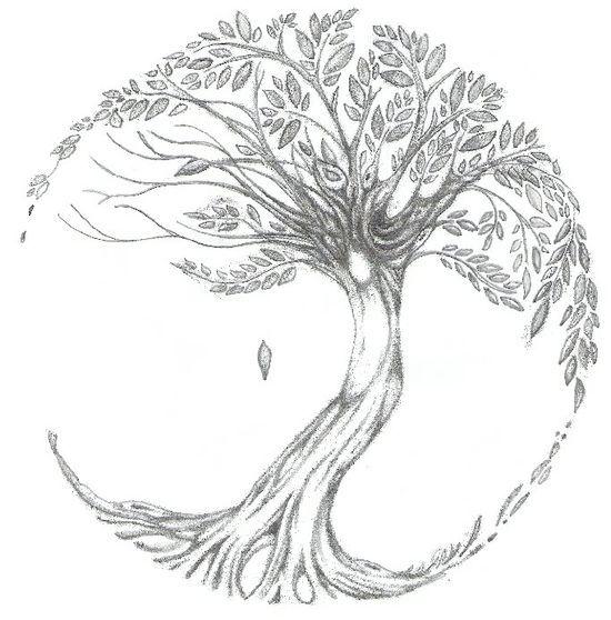 zeer vette illustratie van een boom