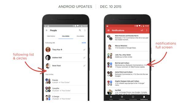 Η εφαρμογή του Google+ αλλάζει εμφάνιση ειδοποιήσεων!