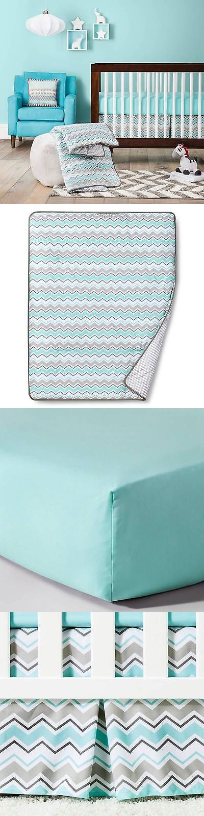 Baby Nursery: Trend Lab Chevron Crib Bedding Set -> BUY IT NOW ONLY: $75.99 on eBay!