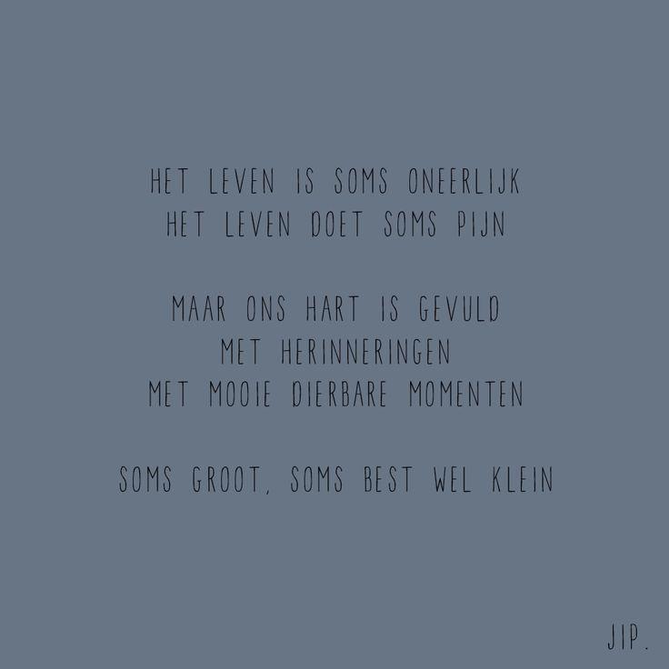 sterkte tekstje gedichtje, versje, kaartje van Gewoon JIP. Dit tekstje…