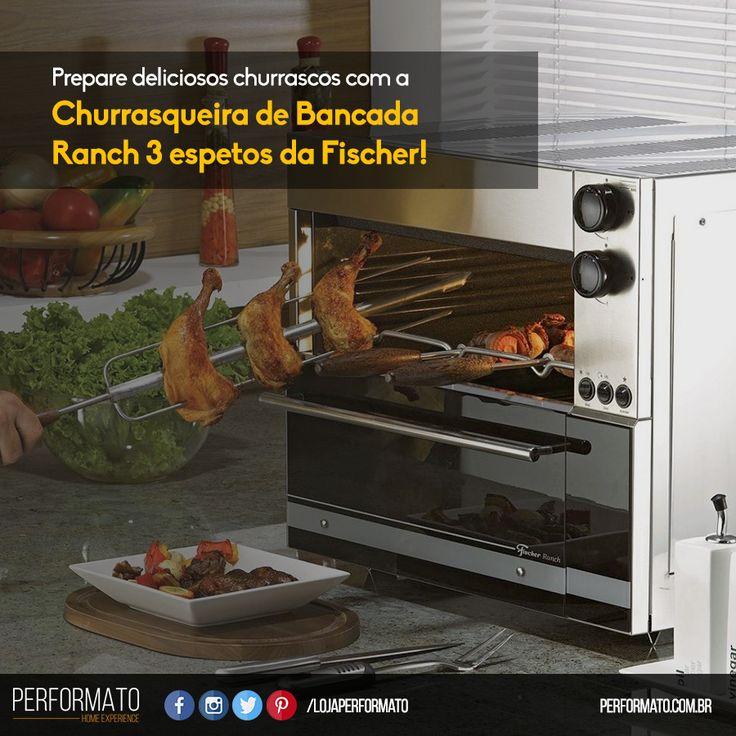 Os churrascos de domingo se tornarão ainda melhores com a Churrasqueira Elétrica Fischer. #Performato #Churrasqueira #Fischer www.performato.com.br