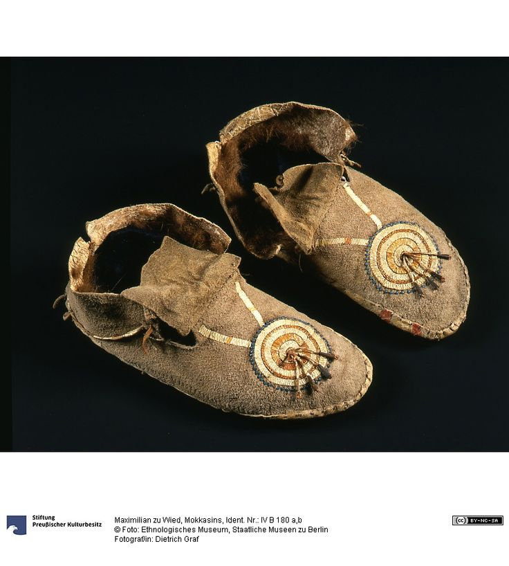 Mocs, coll. at Ft. Pierre by Prince Maximilian, Berlin