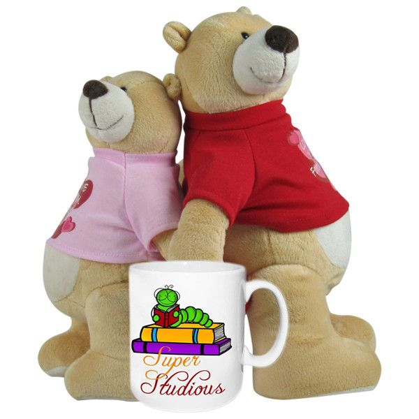 Super Studious Mug w/Together Forever Teddy These cute teddies holding hand is the best way to express your, care and understanding you have for that special one. Product Size :Height : 30 cm X Length : 22 cm X Width : 23 cm, Super Studious - MUG. Rs. 1,598 : Shop Now : http://hallmarkcards.co.in/collections/valentines-hampers/products/personalised-valentines-day-ideas-for-him