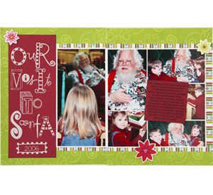 christmas 2-page layout for Scrapbooks etc.