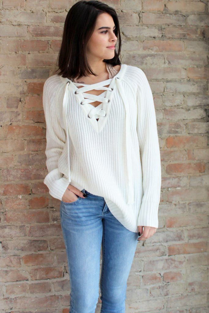 17565077462 Fireside Lace Up Sweater  affordable-gifts  affordable-trendy-sweaters  cozy   laceupsweater  trending