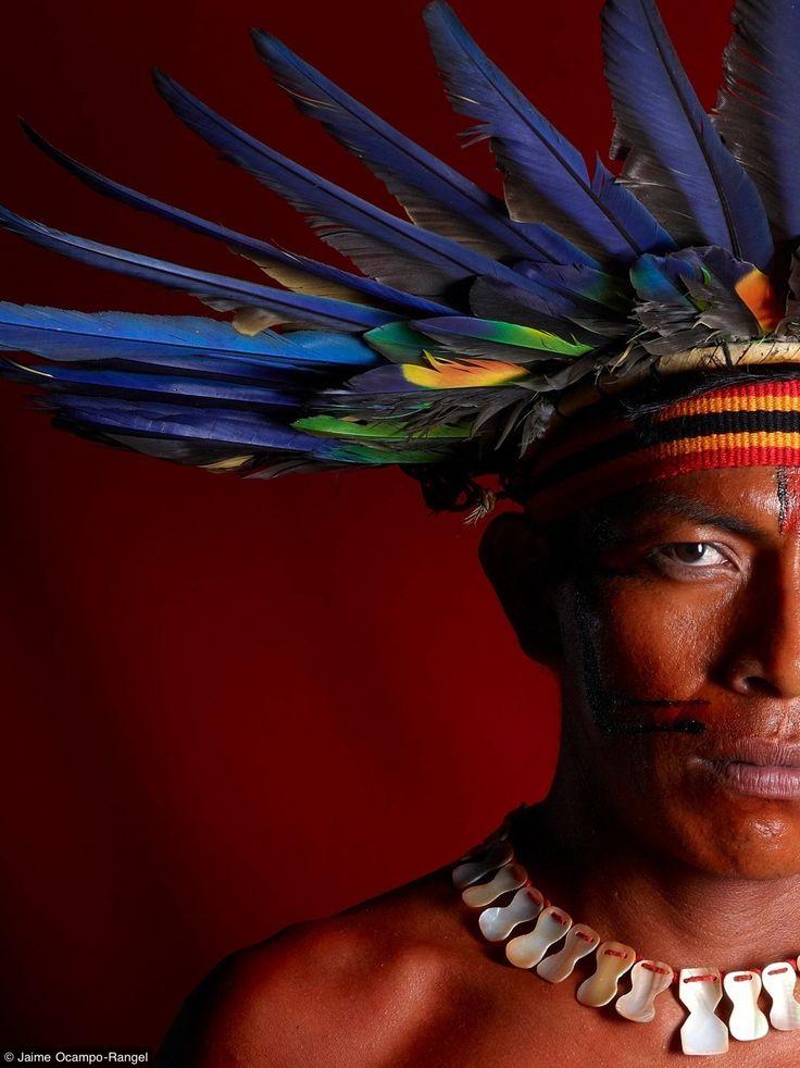 Brasil, índio Bororo