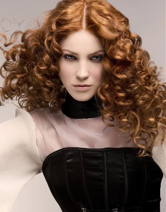 Large image of long red curly hairstyles provided by Steven Carey