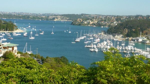 Sydney Harbour from Seaforth. Beautful Spring weather offered perfect conditions for a cycle to capture this perfect view