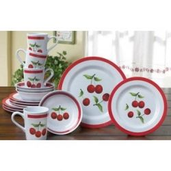 Another Set Of Cute Cherry Themed Dishes Cherry Kitchen Decorkitchen