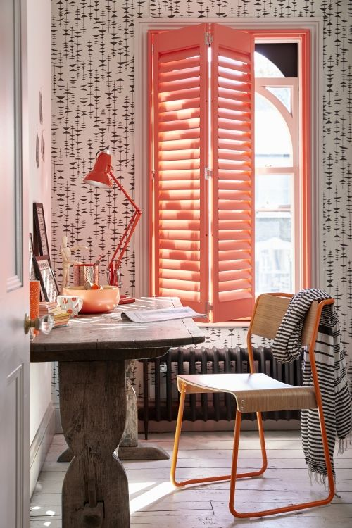 The Shutter Store full height shutters orange study open portrait from £165m2