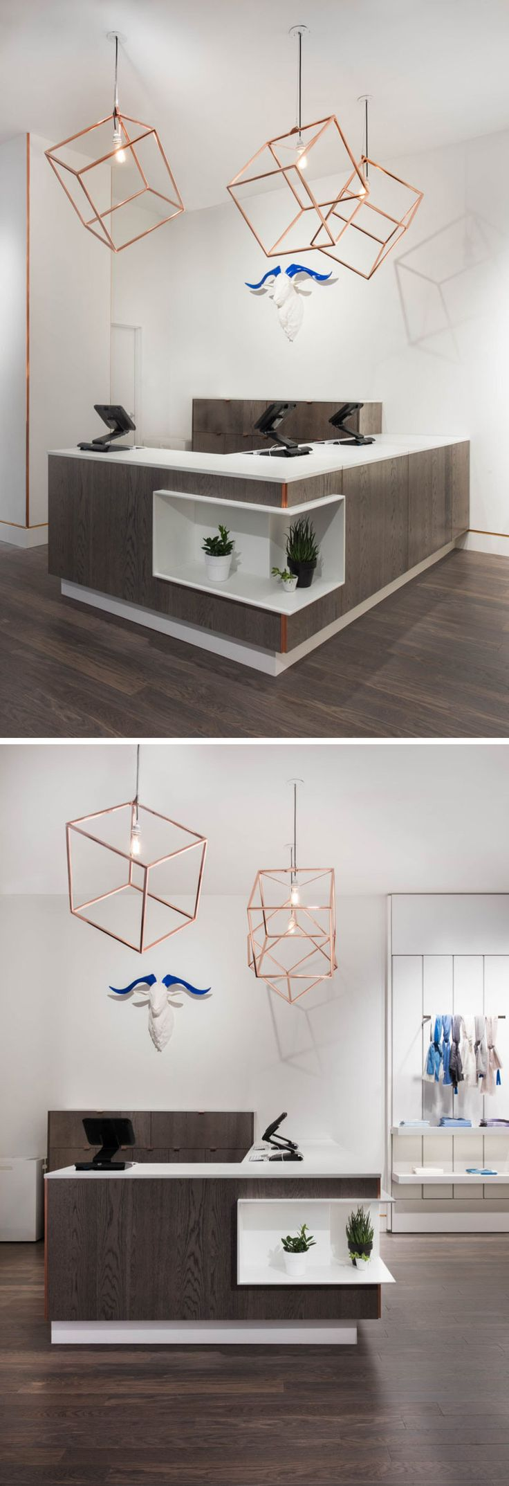Radar Design, a company based in Toronto, Ontario has created this modern Cube Pendant Light. Handmade, the copper plated solid steel cube fixture instantly gives any interior a unique feel.