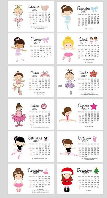 Nesta postagem trago para vocês alguns Calendários 2017 prontos para imprimir em Inglês, português e espanhol.