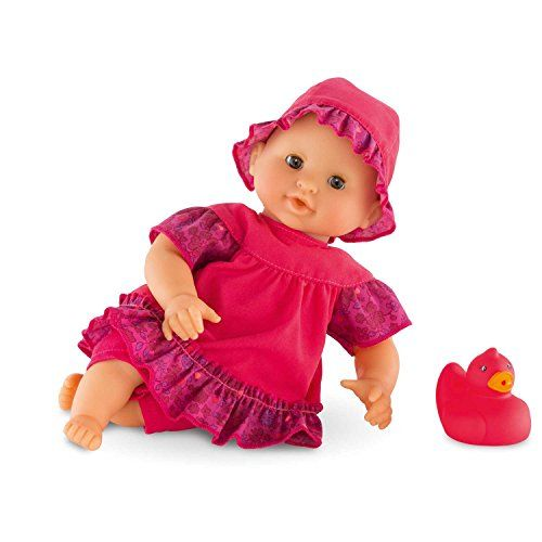 Corolle Mon Premier Bebe Bath Raspberry Doll  Lightweight baby doll with soft, vanilla-scented skin  Every Corolle doll is created with emotion, expertise and French style  Specially designed for bath time play  A favorite playmate out of the tub, too  Doll can be air-dried by hanging it from the tab on the back of its neck