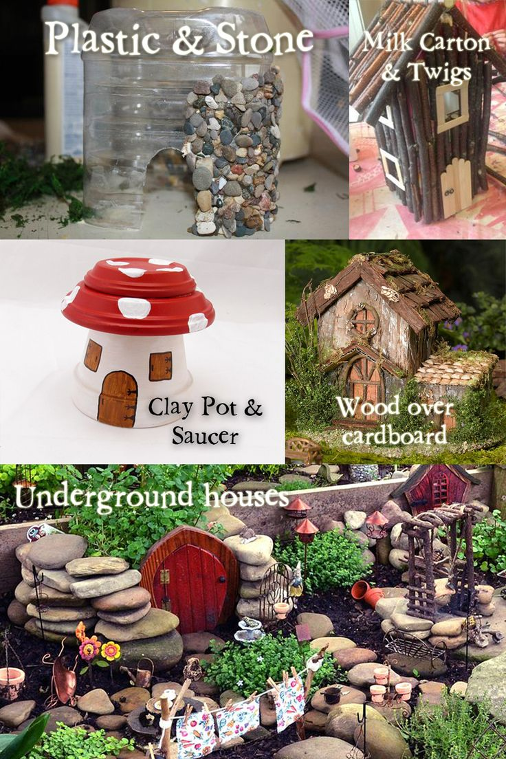 Fairy Garden Houses and how to make them. Useful hacks! - Gardening Pleasures                                                                                                                                                                                 More