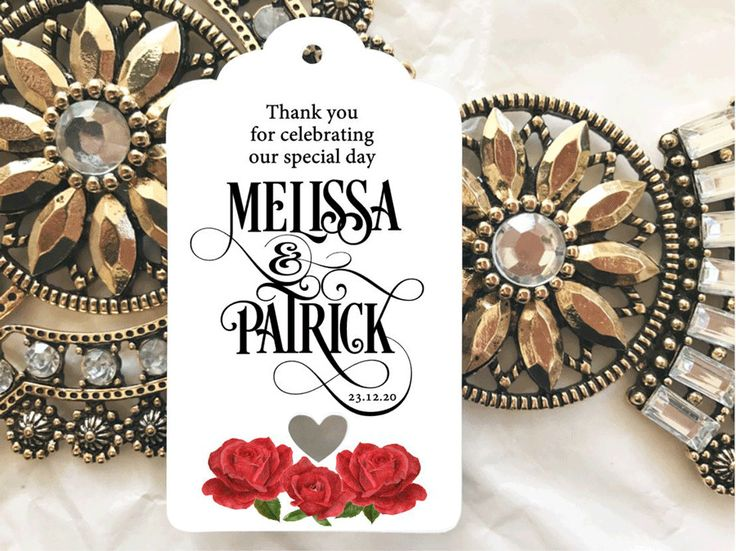 10 White Gift Tags Wedding Favour Personalised Bomboneire Thank you celebrating #Unbranded #Wedding #Favours