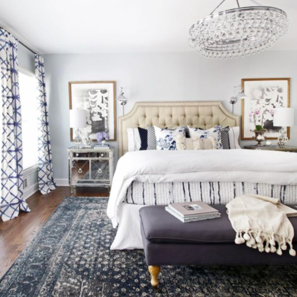 Best Blue And White Rooms Images On Pinterest Bedrooms Home