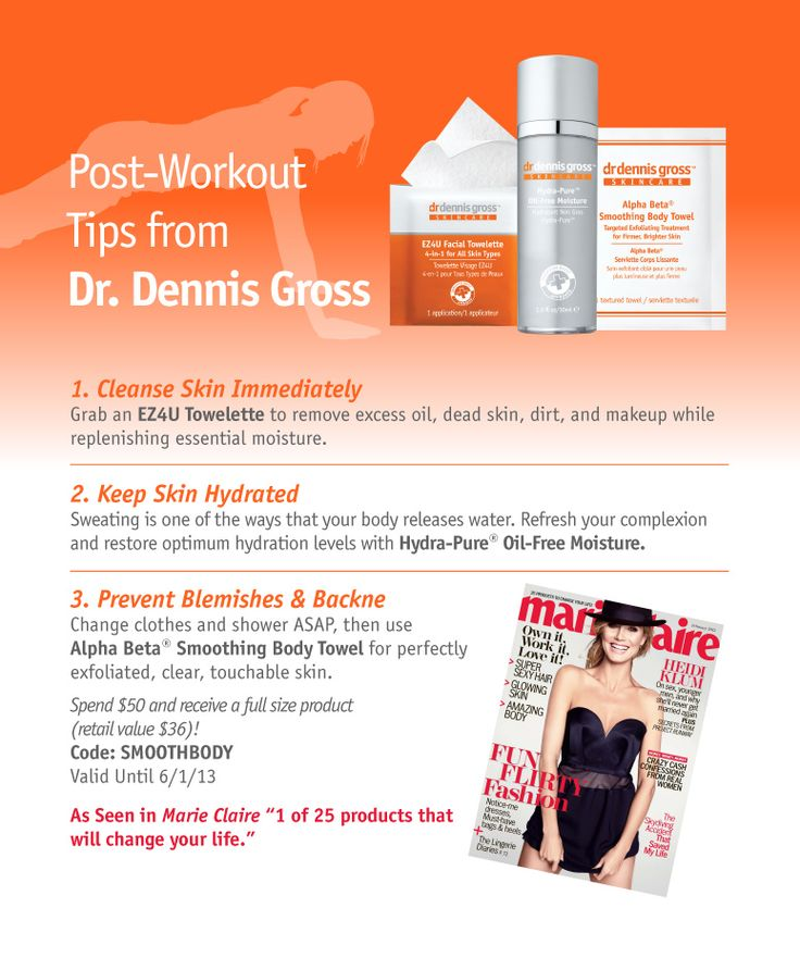 Post-workout tips from Dr. Gross