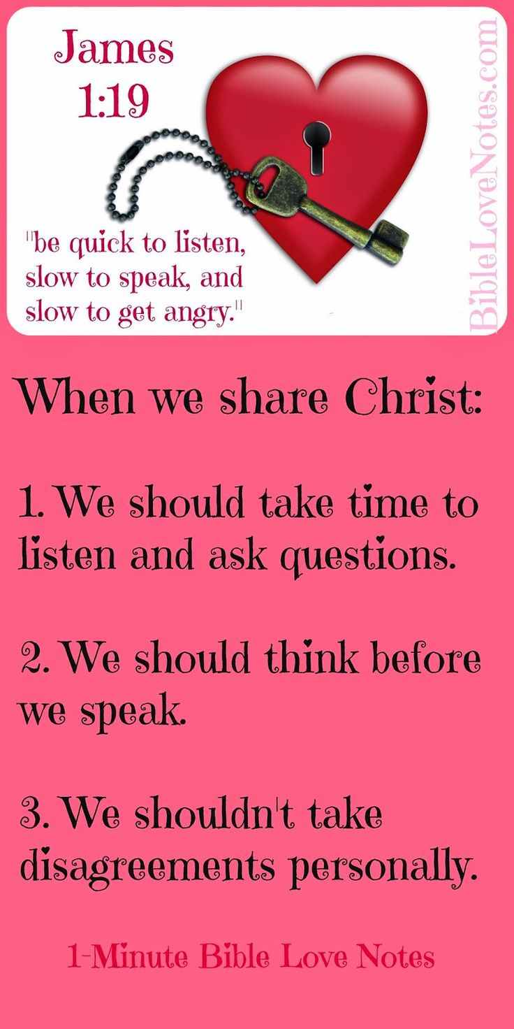 When sharing Christ, it's always better to start by asking genuine questions and finding out where the person is coming from and what they believe before giving answers to questions they don't have. To do a Bite Size Bible study about this, double click image.